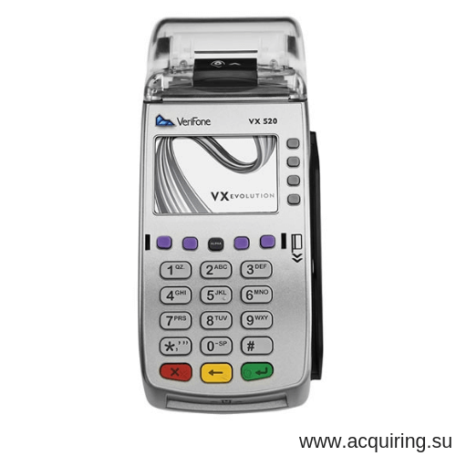 POS-терминал Verifone VX520 (Ethernet - локальная сеть), комплект Прими Карту в Казани
